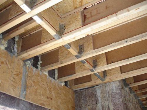 Ремонт потолка старого деревянного дома Строительство