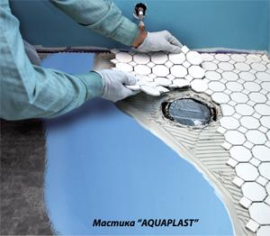 Гидроизоляционная акриловая мастика наливные полы в ванной с